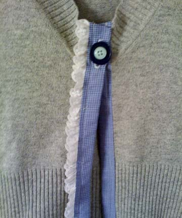 Reconstructed sweater close