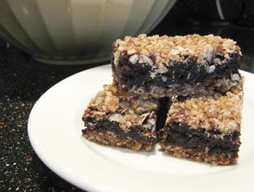 Oatmeal-brownies