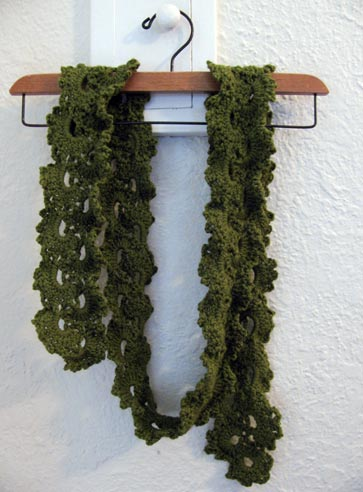 Not Quite Vintage: lacey scarf complete