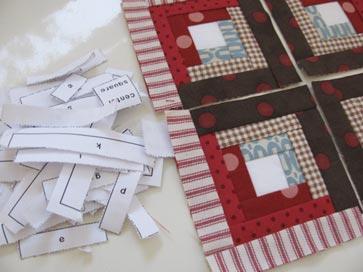Baby-log-cabin-paper-scraps