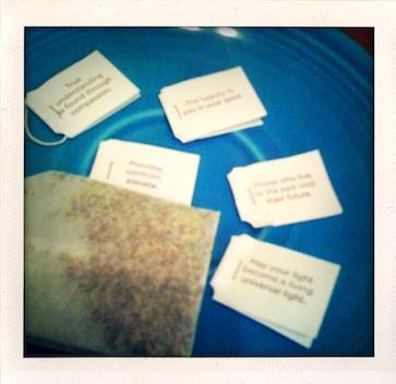 Yogi tea tags