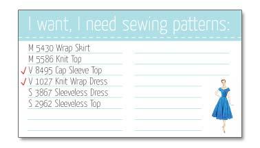 Sewingpatternlist